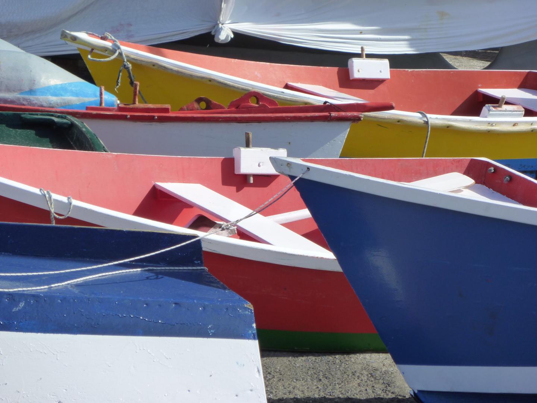 Fischerboote im Hafen von Vueltas