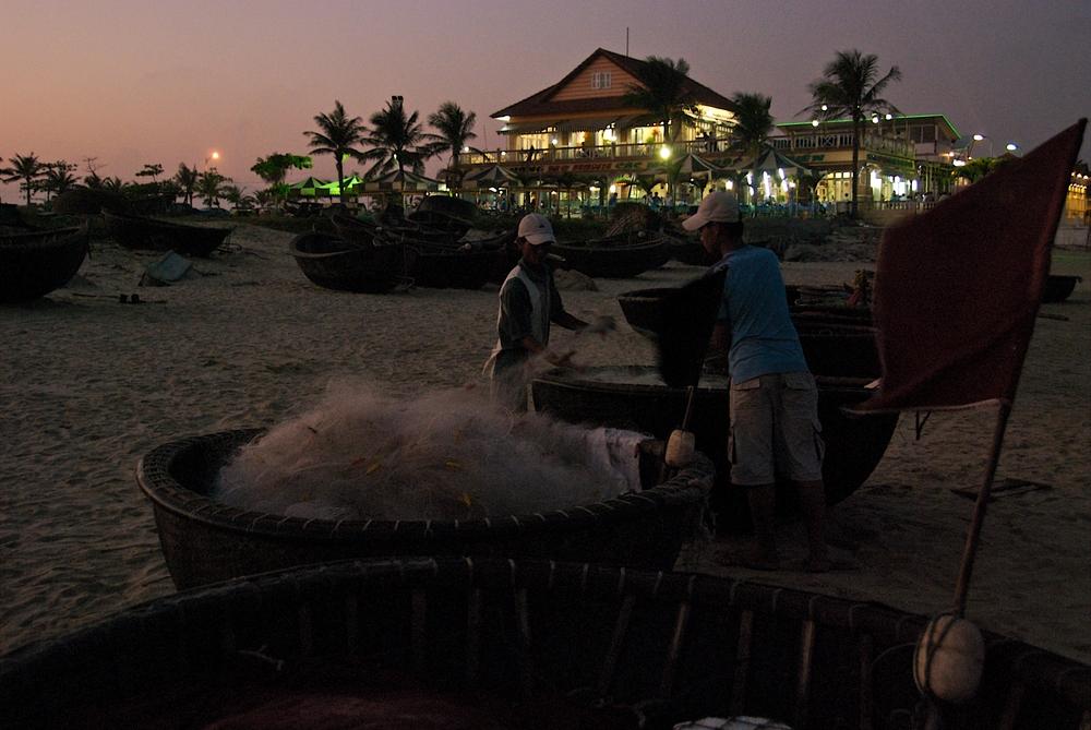 Fischerboote in Da Nang 2