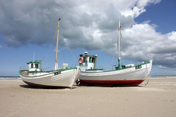 Fischerboote in Løkken