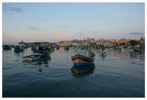 Fischerboote in Marsaxlokk - Morgenimpression