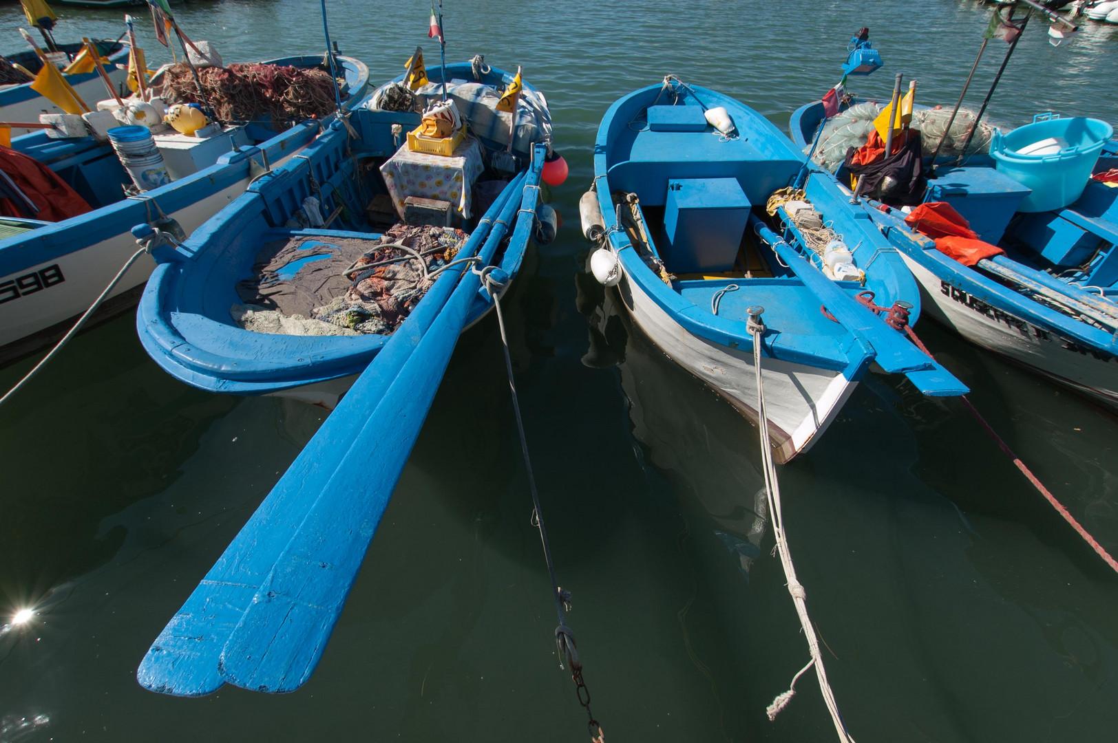 Fischerboote in Vieste