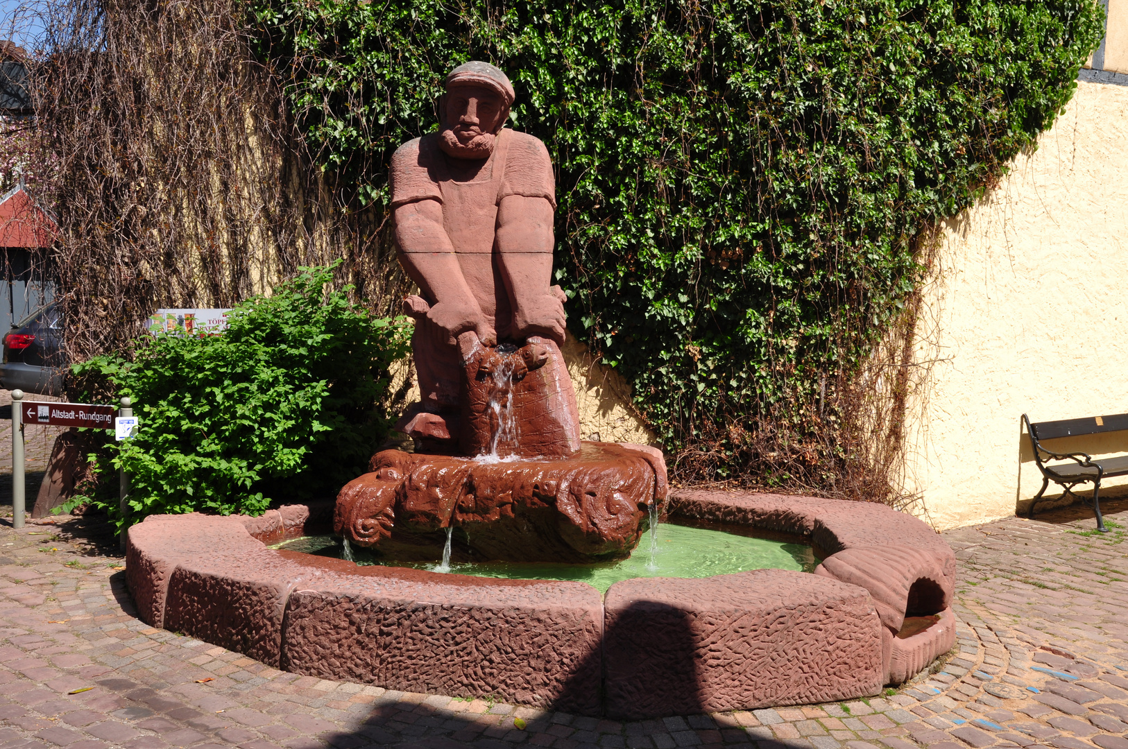 Fischerbrunnen in Lohr am Main