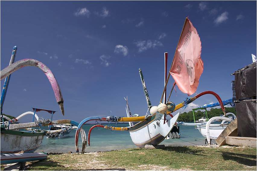 Fischereiflotte Padang Bai