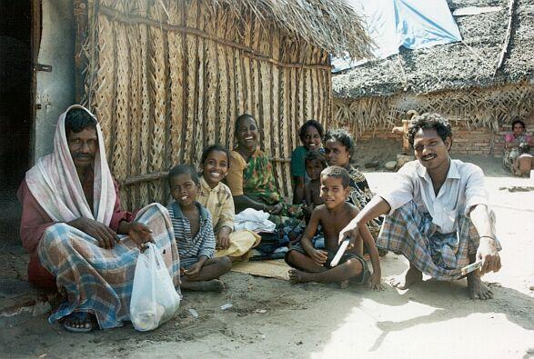 Fischerfamilie in Madras