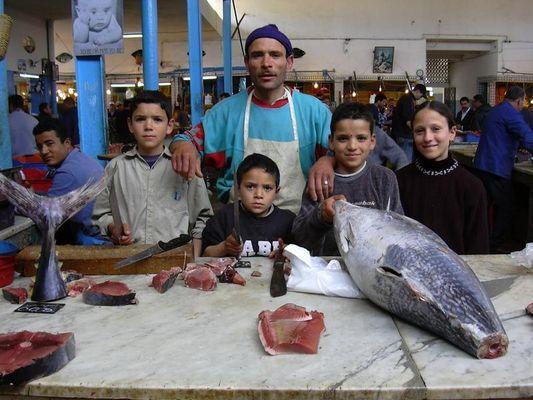 Fischerfamilie in Monastir