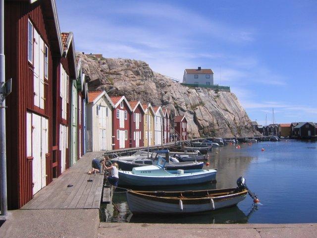 Fischerhäuser auf Smögen in Schweden