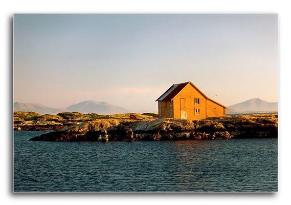 Fischerhütte am Abend