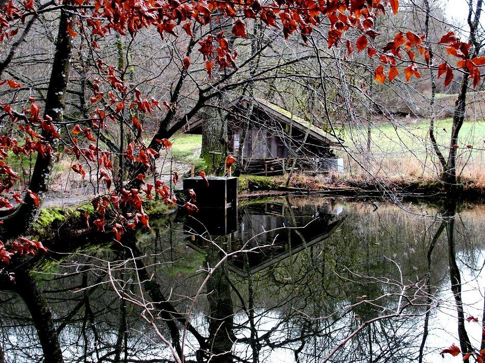 Fischerhütte am Badweiher