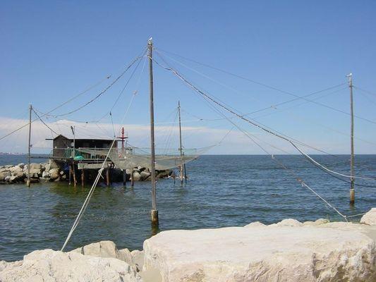 Fischerhütte an der Adria