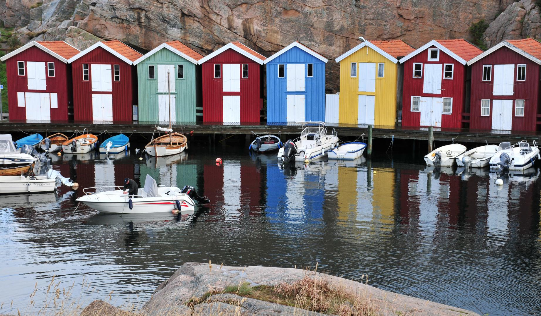 Fischerhütten in Smögen