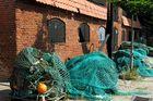 Fischernetze auf Fehmarn