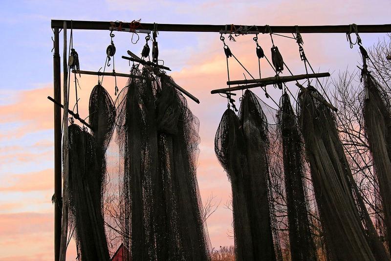 Fischernetze auf Usedom