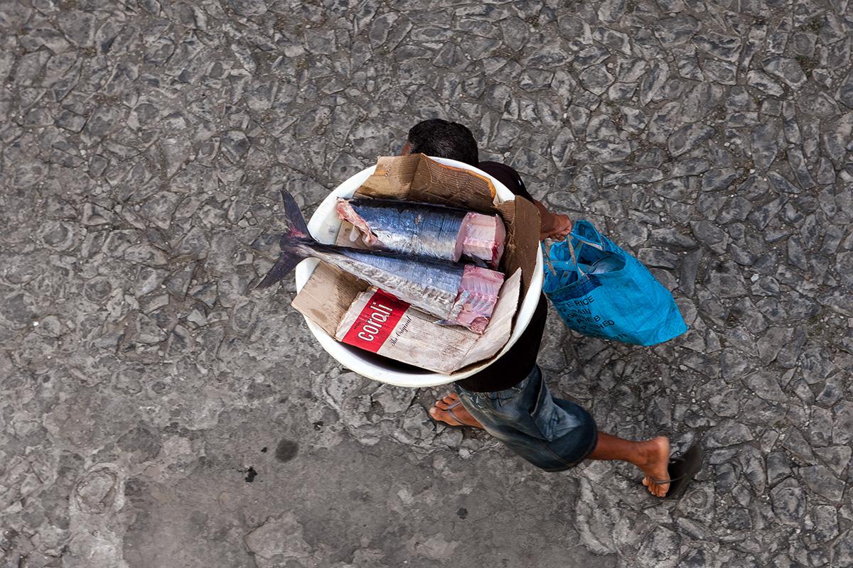 Fischhändler auf Fogo