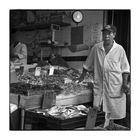 Fischhändler in Chinatown, New York