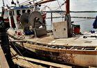 Fischkutter in Der Werft in Maasholm