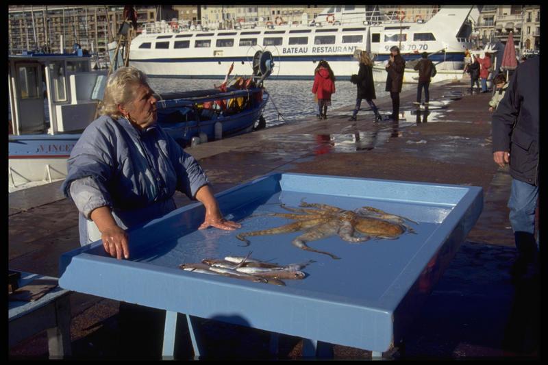 Fischmarkt am Hafen von Marsailles