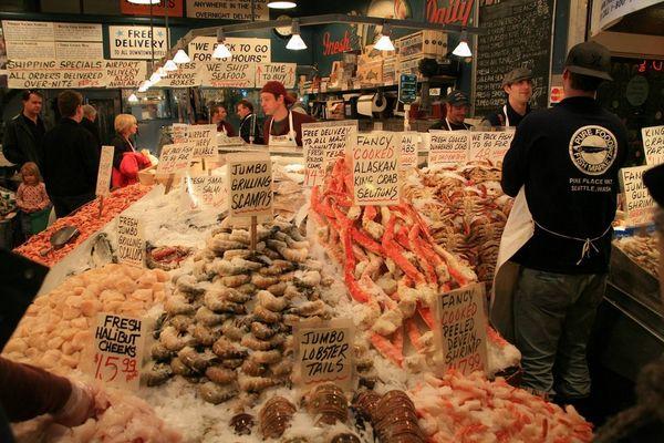 Fischmarkt in Seattle