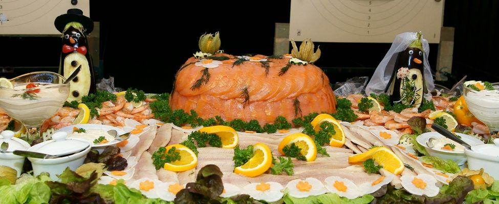 Fischplatte zur Hochzeit