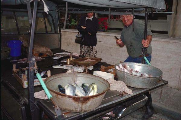 Fischverkäufer 1990