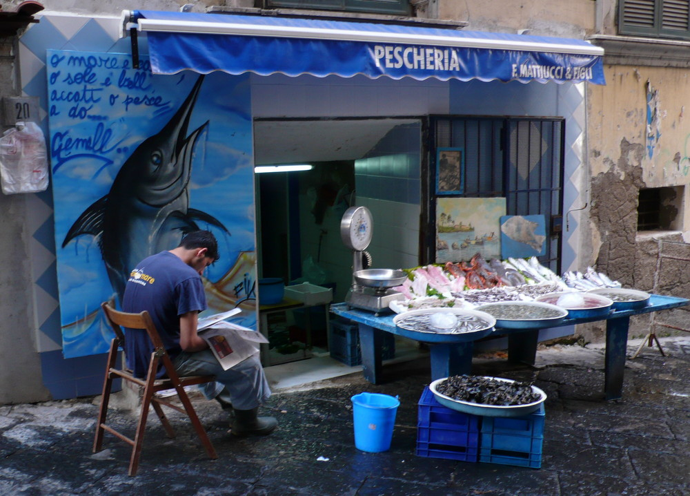 Fischverkäufer in Neapel