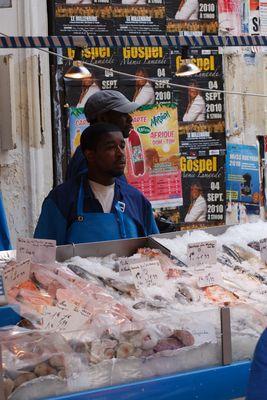 Fischverkäufer in Paris
