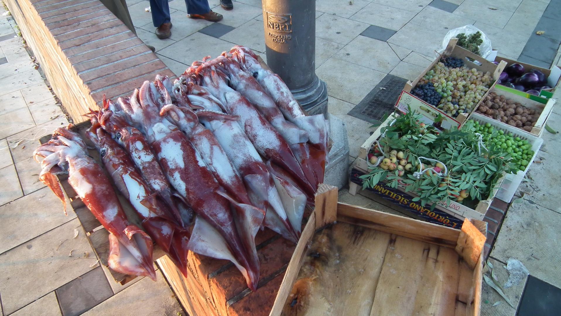 FISH UND GEMUSE AM STRAND