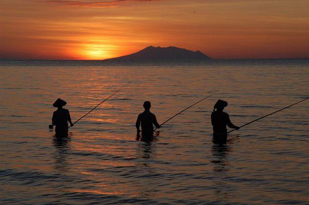 fisherman in lovina