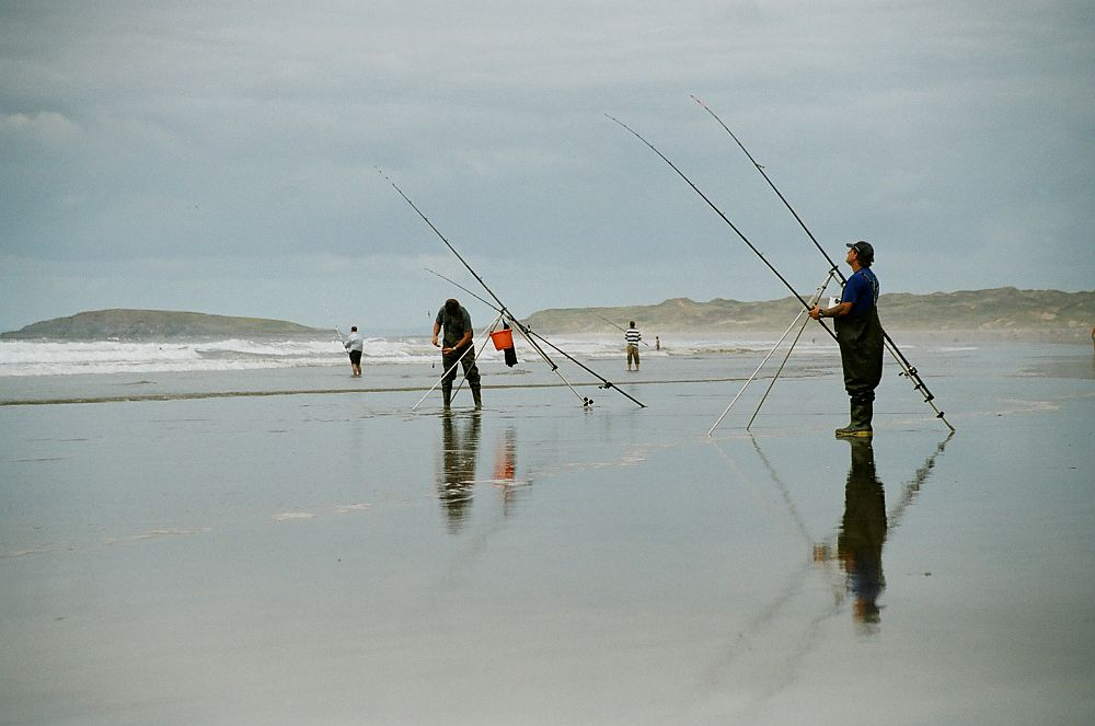 Fishers on Rhossilly beach