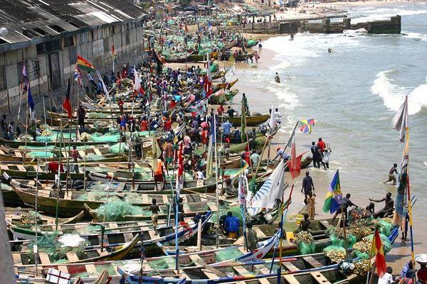 Fishery at Ghana