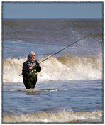Fishing in the sea...