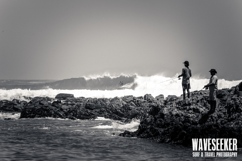 // Fishing in the surf