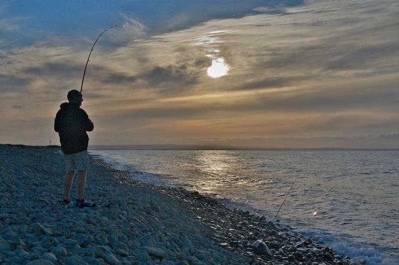 fishing@sunset