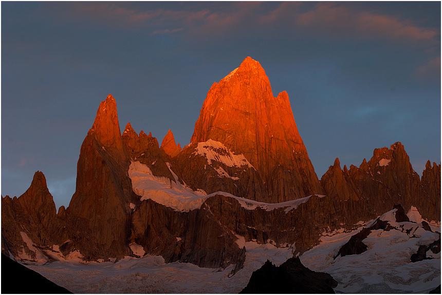 """""""Fitzroy on fire"""", PN Los Glaciares"""