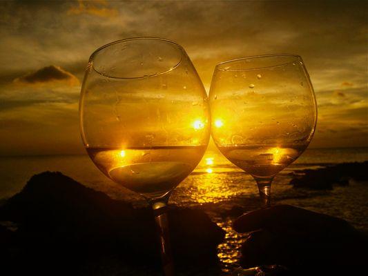 Five sun sunset