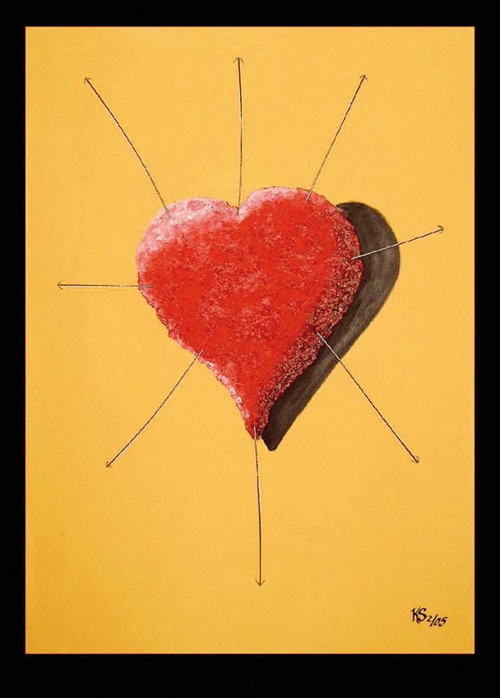 Fixiertes Herz