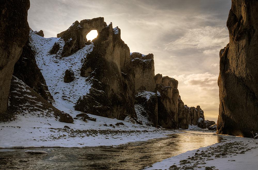 Fjaðrárgljúfur Schlucht
