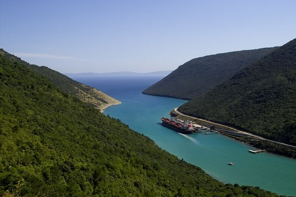 Fjord an der Ostküste Istriens