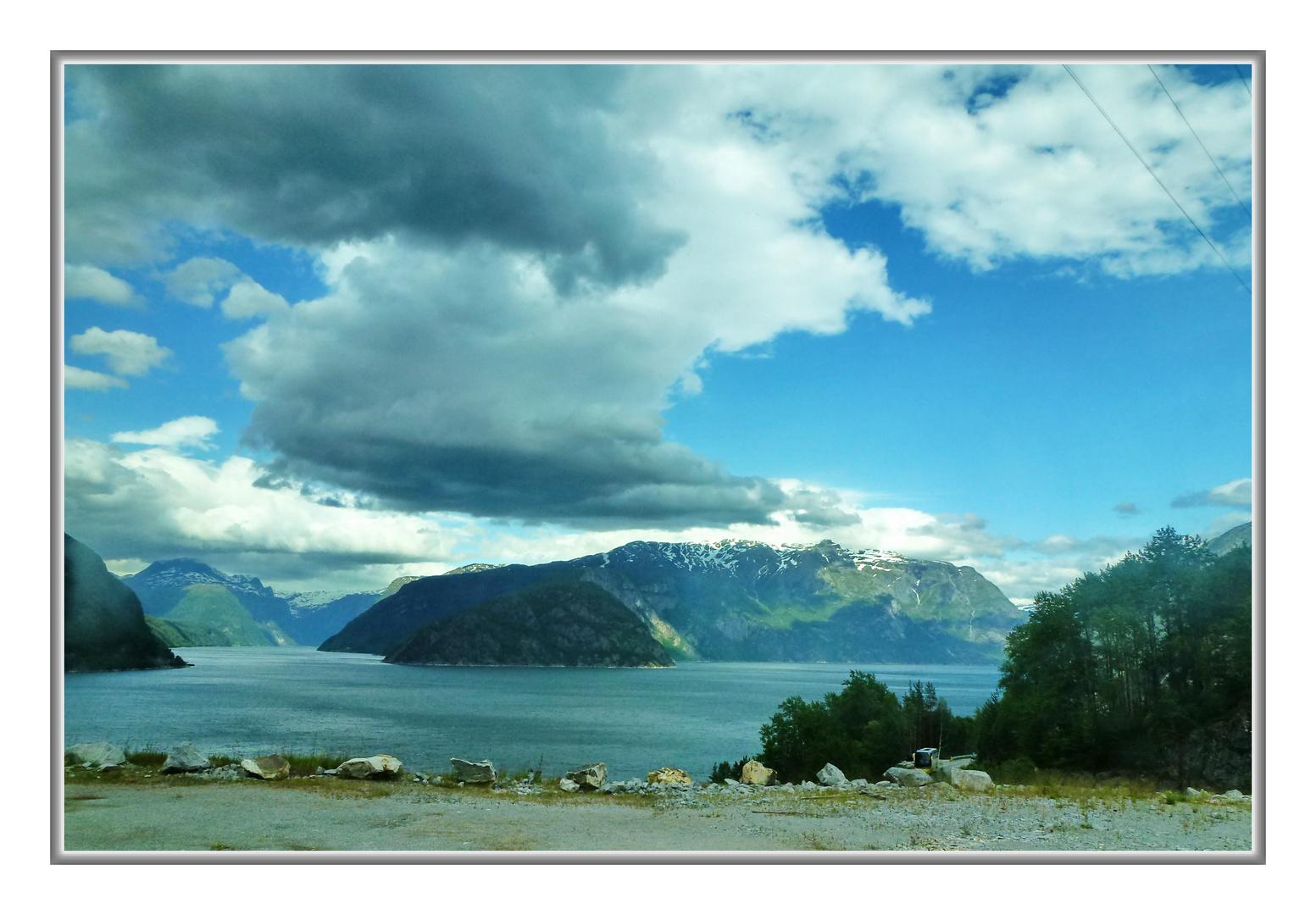 Fjordlanschaft am Sognefjord