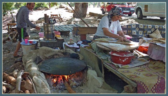 Fladenbrotbäckerei.