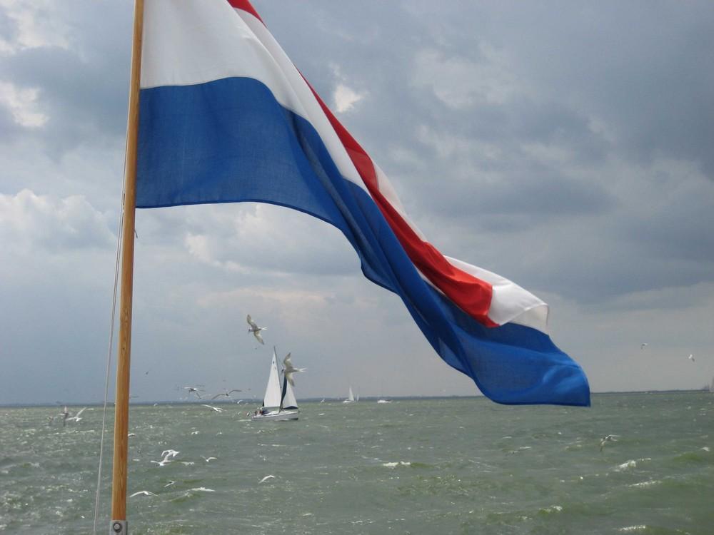 Flagge und Ijsselmeer