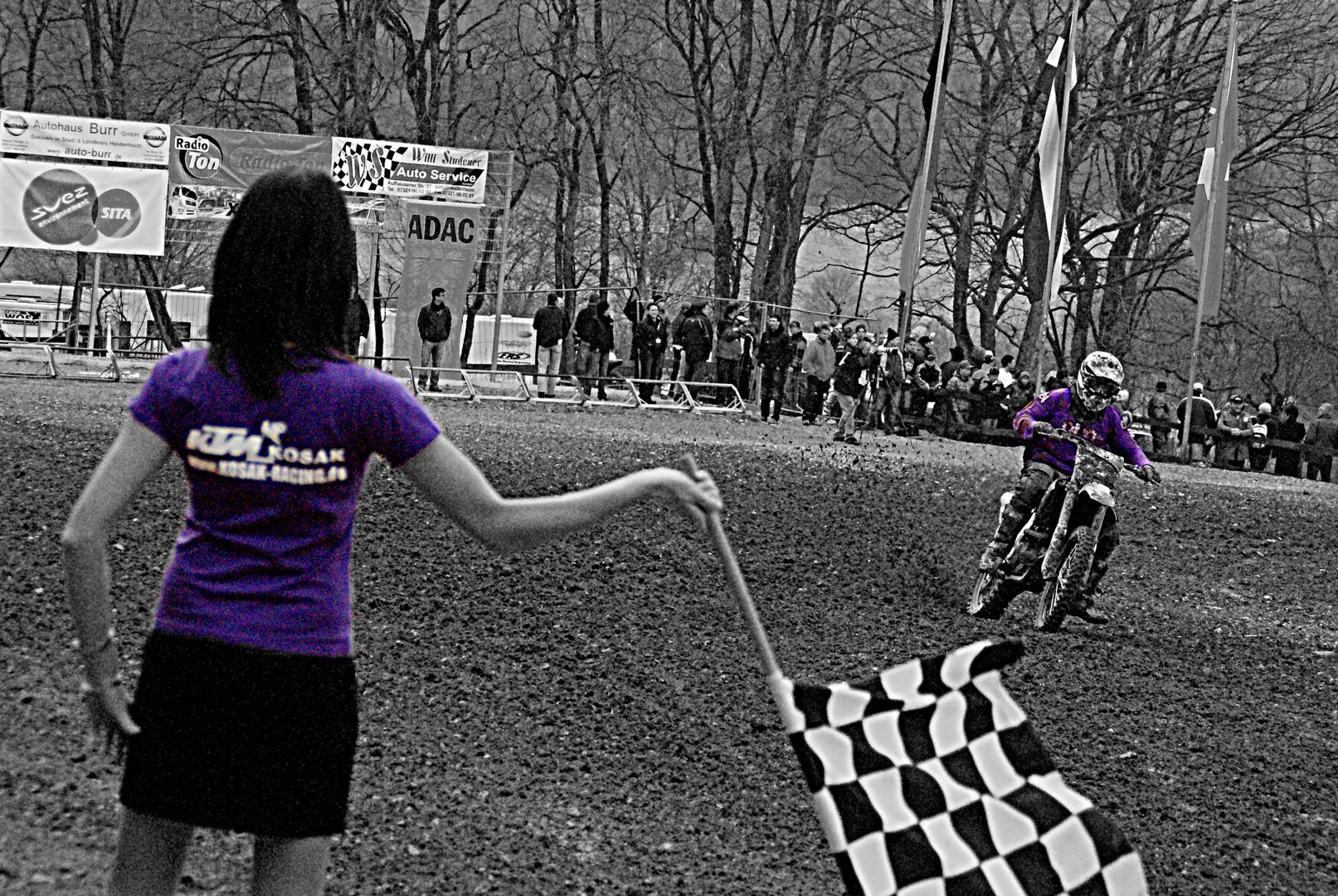 Flaggengirl: Motocross