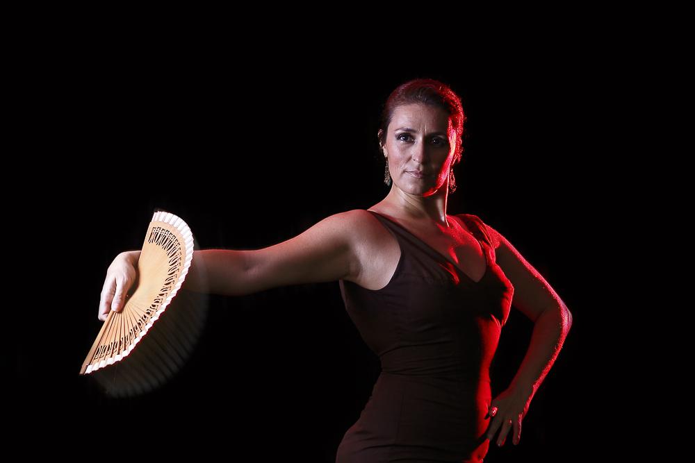 Flamenco y abanico