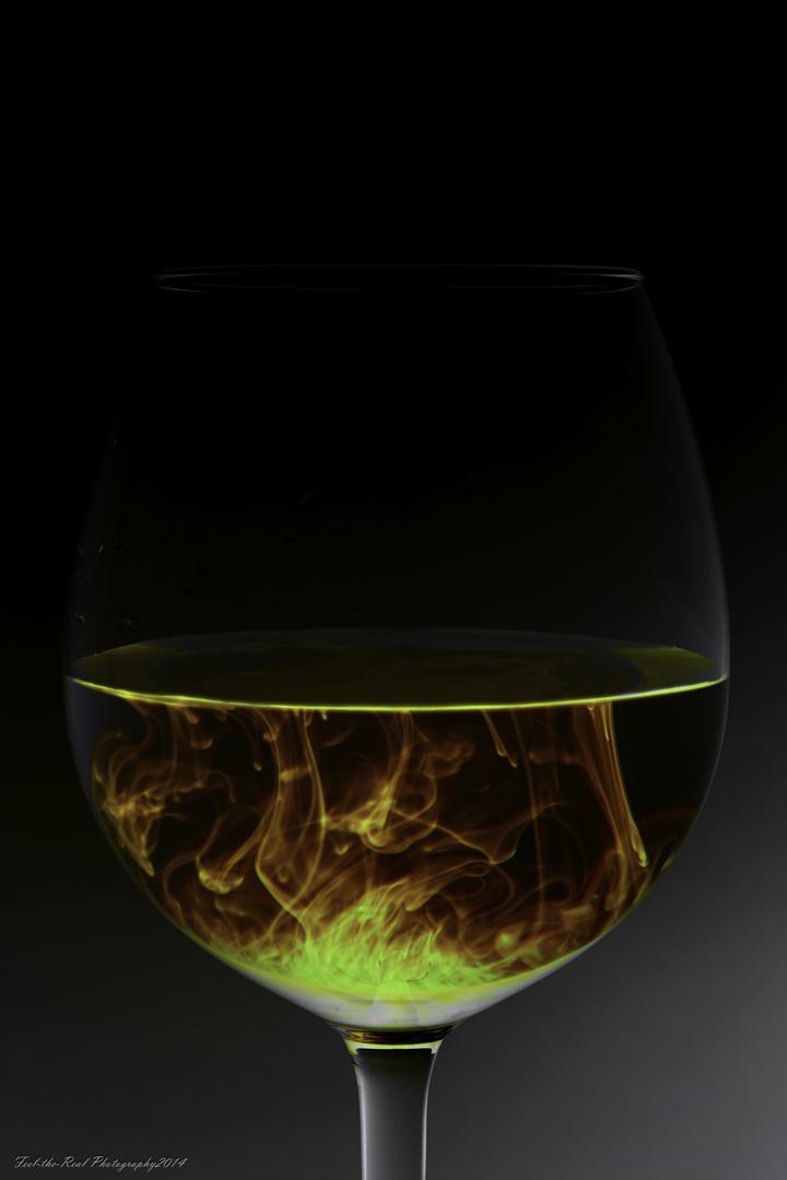 Flammbiertes Glas