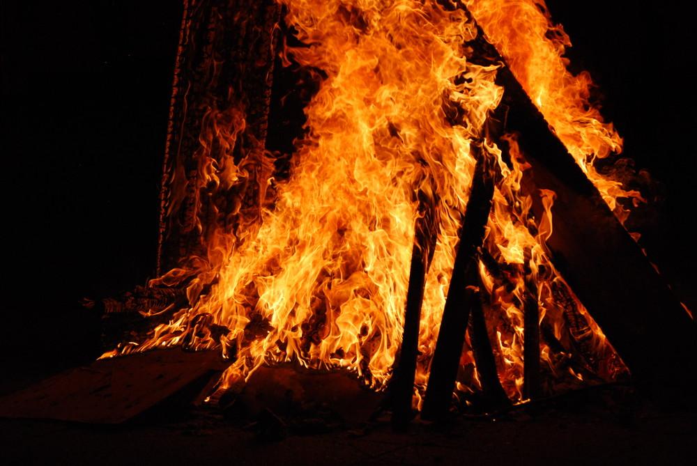 Flammen..