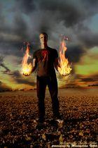 Flammende Hände