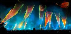 Flammende Sterne Laser-show 4