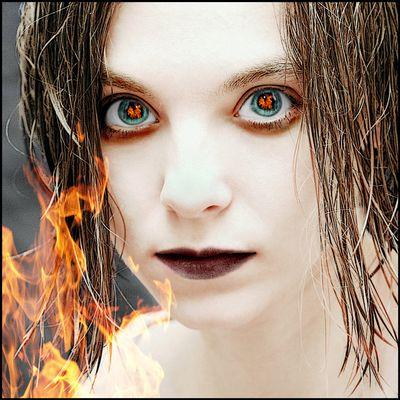Flammender Blick