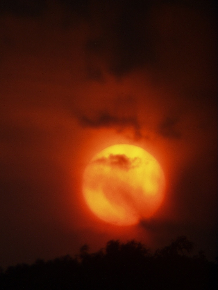 Flammender Sonnenuntergang in Texas