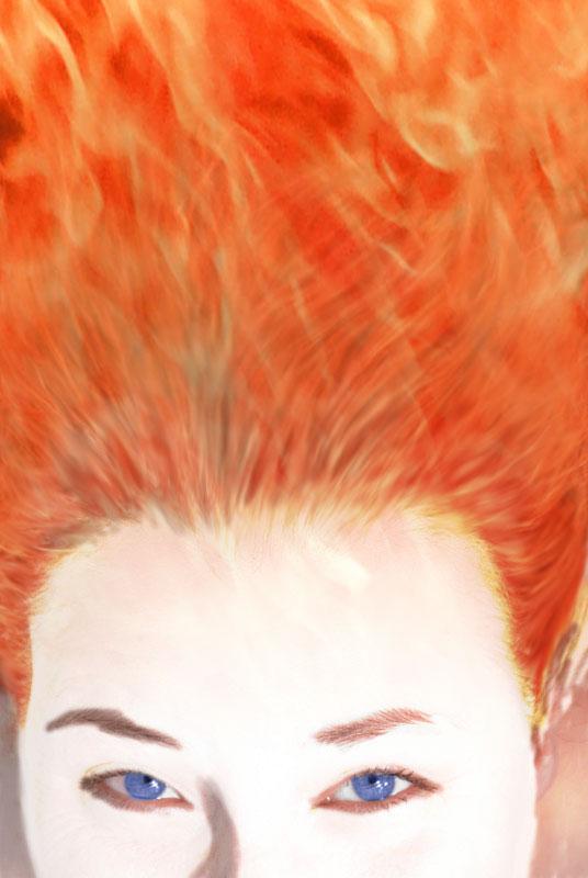 Flammendes Haar