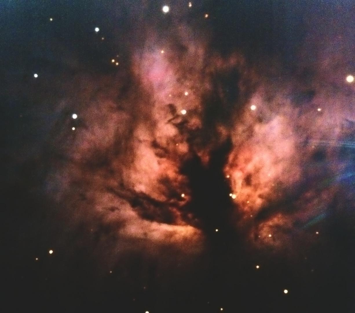 Flammennebel im Orion, Nahaufnahme
